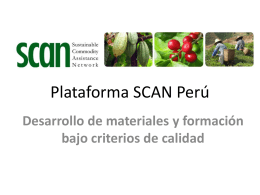 Plataforma SCAN Per&#250