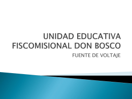 UNIDAD EDUCATIVA FISCOMISIONAL DON BOSCO