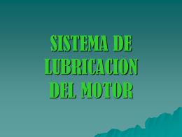 SISTEMA DE LUBRICACION DEL MOTOR