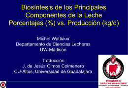 Lactation and Milking - Facultad de Ciencias Agropecuarias