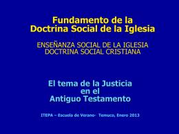 EL TEMA DE LA JUSTICIA EN EL ANTIGUO TESTAMENTO