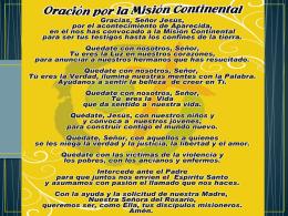 OBJETIVOS DE LAS SANTAS MISIONES POPULARES