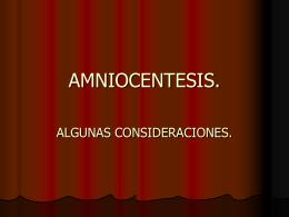 AMNIOCENTESIS.
