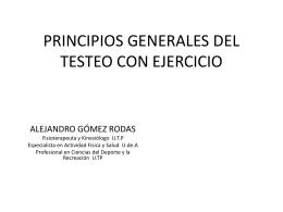 PRINCIPIOS GENERALES DEL TESTEO CON EJERCICIO