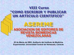 """COMO ESCRIBIR Y PUBLICAR UN ARTICULO CIENTIFICO"""""""