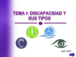 DISCAPACIDAD Y SUS TIPOS