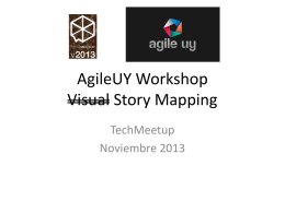 AgileUY Workshop Visual Story Mapping