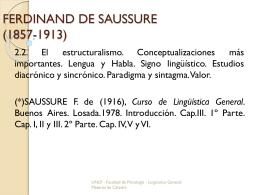 FERDINAND DE SAUSSURE (1857