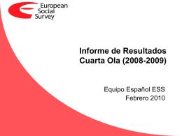 Informe de Resultados Cuarta Ola (2008