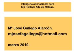 Inteligencia Emocional para Colegio de Madrid.