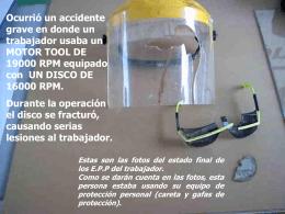 Accidente disco pulidora - Bienvenido a RIDSSO