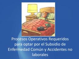 Registro de Eventos relacionados con los Subsidios de