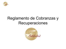 Reglamento de Cobranzas y Recuperaciones