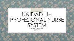 Unidad III – Profesional nurse system