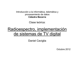 Radioespectro, TV digital
