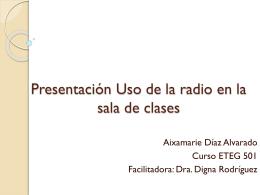 Presentacion Uso de la radio en la sala de clases