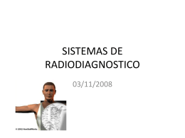 SISTEMAS DE RADIODIAGNOSTICO