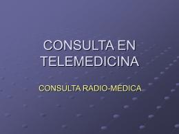 CONSULTA DE TELEMEDICINA