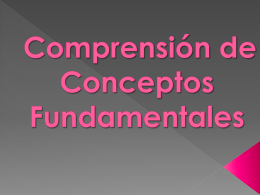 Comprension de comceptos fundamentales