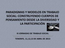 PARADIGMAS Y MODELOS EN TRABAJO SOCIAL: …