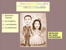 ppt matrimonio - Parroquia de San Leandro