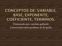 Diapositiva 1 - Matematicas Unimetro