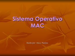 Sistema Operativo MAC - jaimeferran4informatica