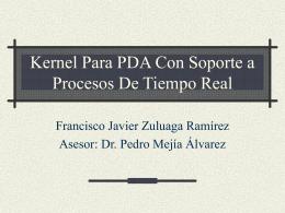 Kernel Para PDA Con Soporte a Procesos De Tiempo Real