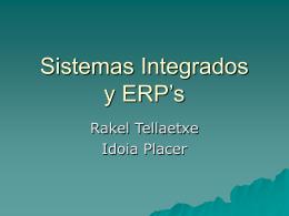 Sistemas Integrados y ERP's