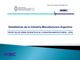 Sistema integrado de Estadisticas Industriales …