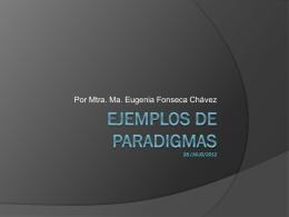 Ejemplos de paradigmas