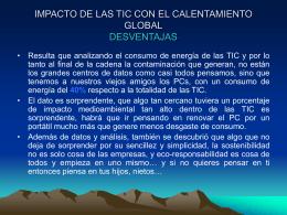 IMPACTO DE LAS TIC CON EL CALENTAMIENTO GLOBAL …