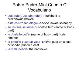 Pobre Pedro-Mini Cuento C Vocabulario