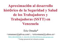 La Salud Ocupacional en Venezuela