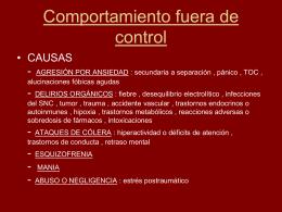 COMPORTAMIENTO FUERA DE CONTROL