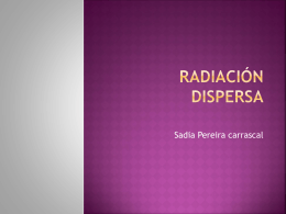 Radiacion dispersa