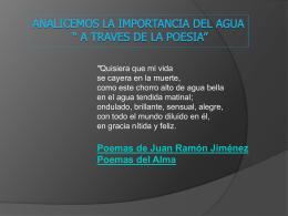 "ANALICEMOS LA IMPORTANCIA DEL AGUA "" A TRAVES …"