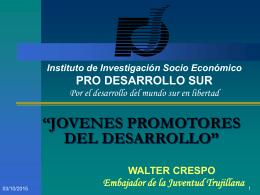 CONFERENCIA: 'JOVENES Y DESARROLLO'