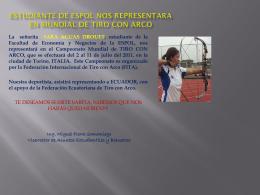 ECUADOR, TERCERO EN RANKING MUNDIAL DE TIRO …