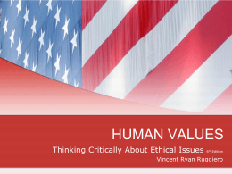 HUMAN VALUES - College of Alameda