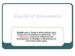 Euclid of Alexandria - Open resources | open.conted.ox.ac