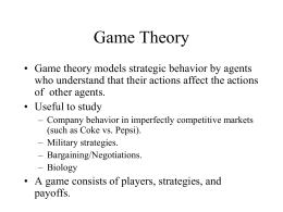 Game Theory - אוניברסיטת חיפה