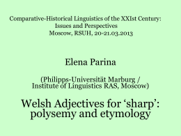 Dr. Elena PARINA (Institute of Linguistics RAS,Moscow