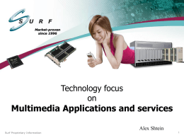 Multimedia Applications & Services