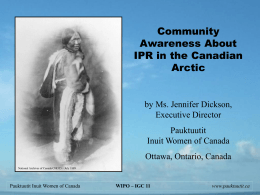 Intellectual Property Rights & Inuit Women's Amauti
