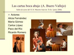 Las cartas boca abajo (A. Buero Vallejo)