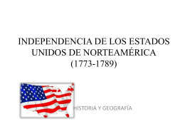 INDEPENDENCIA DE LOS ESTADOS UNIDOS DE …