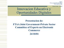 FTAA.ecom/inf/104/Add.1/Rev.1 25 de octubre de 2001