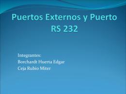 Puertos Externos y Puerto RS 232