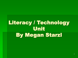 Literacy / Technology Unit
